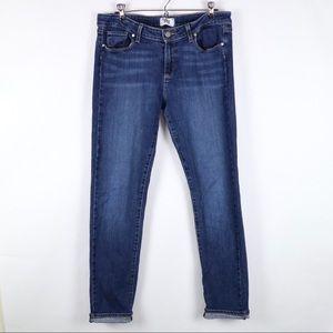 Paige skyline skinny dark wash jeans 32